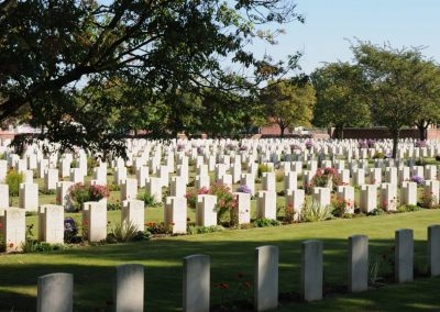 Cite Bonjean Military Cemetery where 267 Corporal Herbert Batterham is buried - WWI Battlefields