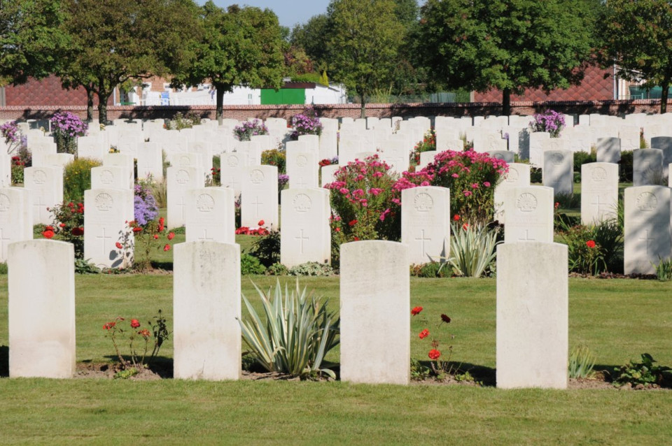 Cite Bonjean Military Cemetery where 267 Corporal Herbert Batterham is buried.