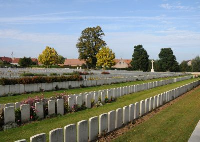 Bailleul Communal Cemetery Extension where 9 Private Francis Brennan is buried.