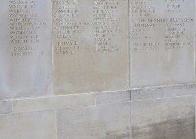 Wreath laid in honour of 2804 Private Arthur Davis at the Australian National Memorial.