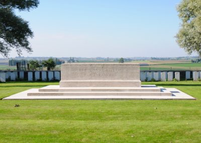 Messines Ridge British Cemetery where Lieutenant Adam Dickie is buried.