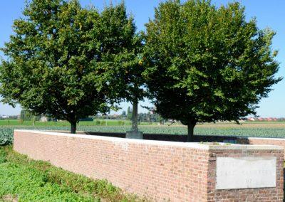 Bethleem Farm East Cemetery where 5829 Private Arthur Hindmarsh is buried.