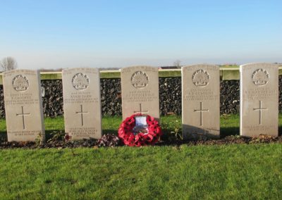 The Special Memorial to 6401 Private James Fitzgerald at the Tyne Cot Cemetery.