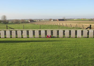 The Special Memorial to 6401 Private James Fitzgerald at the Tyne Cot Cemetery, Belgium.