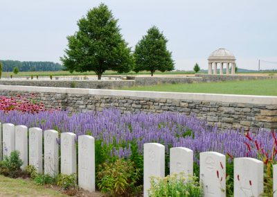 Bedford House Cemetery where 3819 Private George Hughes is buried.