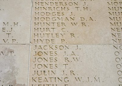 1724 Private Patrick Hyde remembered with honour on the wall of the Australian National Memorial.