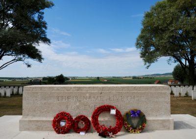 Messines Ridge British Cemetery where 5821 Private Robert Johnston is buried.