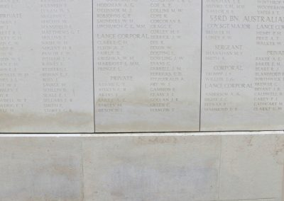 Wreath laid in honour of 2719 Corporal Michael O'Connor at Ypres (Menin Gate) Memorial, Belgium.