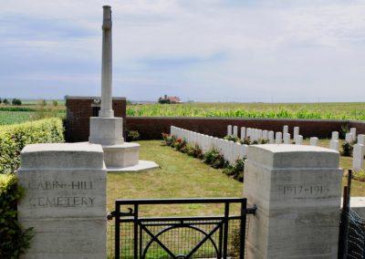 Cabin Hill Cemetery where 4362 Private William Reid is buried