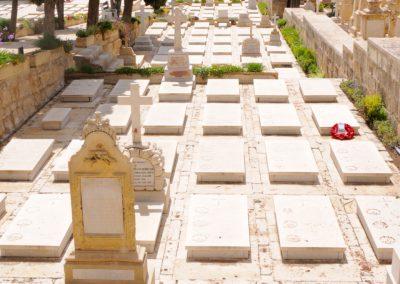 The grave of 795 Trooper William Sharpe at Pieta War Cemetery, Malta.