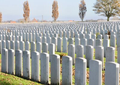 Tyne Cot Cemetery, the largest cemetery for Commonwealth forces in the world..