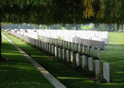 Lijssenthoek Military Cemetery where 456 Private Cecil Bott is buried.
