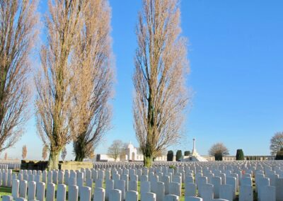 Tyne Cot Cemetery, the largest cemetery for Commonwealth forces in the world.