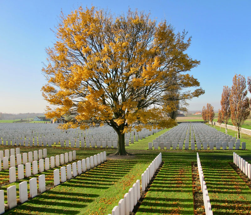 Tyne Cot Cemetery, the largest cemetery for Commonwealth forces in the world - Battle Of Passchendaele | Australians World War One