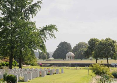 Bedford House Cemetery, Belgium, where 3819 Private George Hughes is buried.