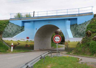 The railway cutting at Dernancourt, France.
