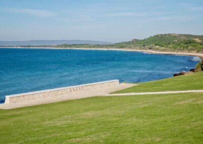 Anzac Cove on the Gallipoli peninsula.