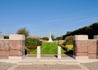 Derry House Cemetery No. 2 where 3033 Lance Corporal Walter Potts is buried.