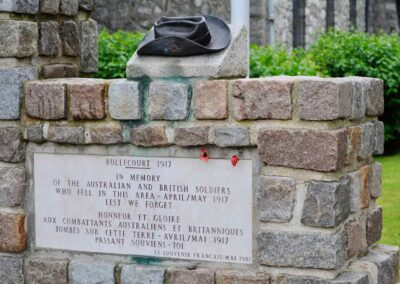 The Slouch Hat Memorial at Bullecourt, France.
