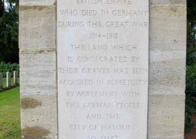 Ohlsdorf Cemetery, Hamburg, where 5575 Private Albert Jolly is buried.