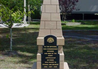Replica of the Australian 1st Division Memorial at Pozieres State School, Queensland.