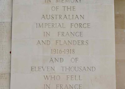 Plaque on the Australian National Memorial, Villers-Bretonneux, France