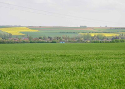 Looking towards the village of Dernancourt, France.