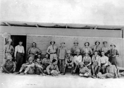 Australian soldiers at Serapeum Railhead,AWM Collection C00059
