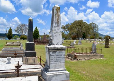 The grave of Lieutenant Colonel Charles Arthur Lee at the Tenterfield Cemetery N.S.W.