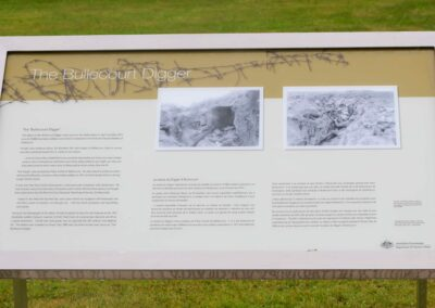 Australian Government Plaque at the Bullecourt Digger