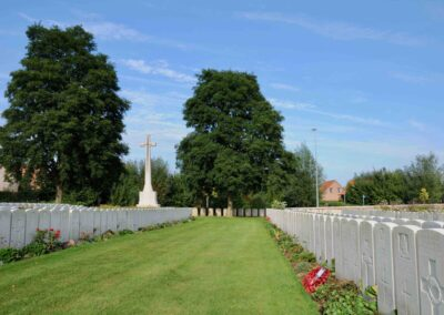 Bailleul Communal Cemetery Extension, France where 9 Private Francis Brennan is buried.