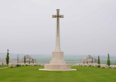 The Cross of Sacrifice at the Villers-Bretonnuex Military Cemetery, France - Amiens WWI | A.I.F. Amiens