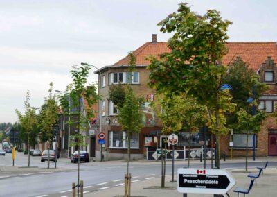 The town of Passchendaele, Belgium