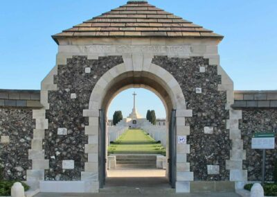 Entrance to Tyne Cot Cemetery