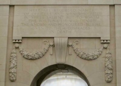 The Menin Gate memorial to the missing, Ypres, Belgium.