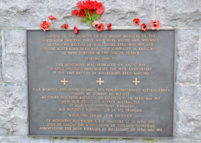 The plaque on the Bullecourt Digger, France