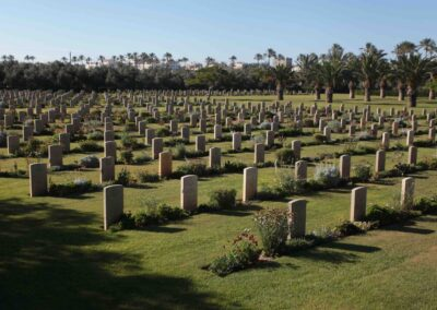 A general view of Deir El Belah War Cemetery where 299 Corporal Thomas Browne is buried, in the central Gaza Strip June 16, 2014. Photo by Ashraf Amra
