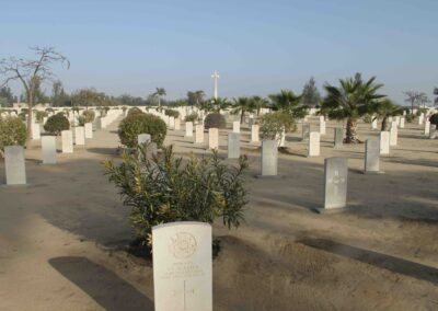 Kantara War Memorial Cemetery where 859 Corporal Francis Curran D.C.M. is buried. The War Graves Photographic Project.