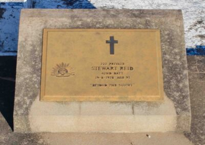 The grave of 727 Private Stewart Reid, Stanthorpe Cemetery, Queensland.