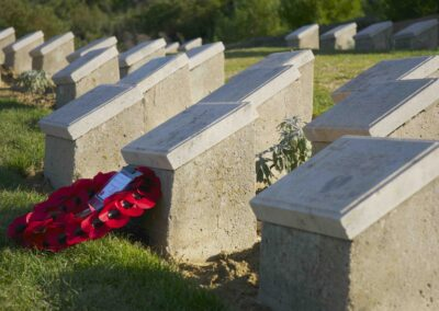 Wreath laid in honour of 733 Private William Cammack at Shell Green Cemetery, Gallipoli.