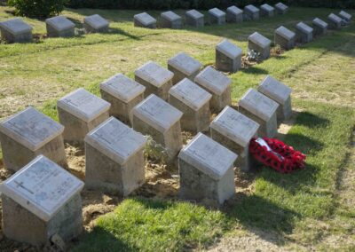The grave of 733 Private William Cammack at Shell Green Cemetery, Gallipoli.