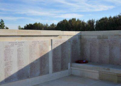Wreath laid in honour of 2166 Private Thomas Marstella at the Lone Pine Memorial, Gallipoli.