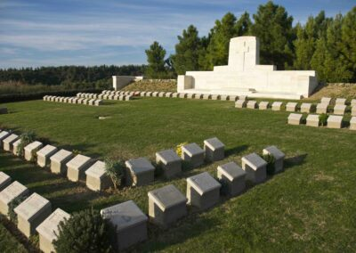 Quinn's Post Cemetery, Gallipoli, where 719 Private William Burns is buried.