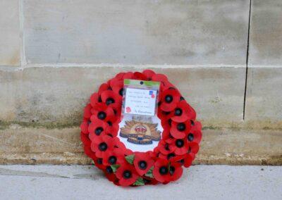 Wreath laid in honour of 2804 Private Arthur Davis at the Australian National Memorial, Villers-Bretonneux.