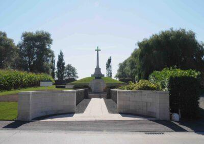 Messines Ridge British Cemetery, Belgium, where Lieutenant Adam Dickie is buried.