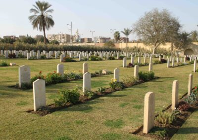 Ismalia War Memorial Cemetery, Egypt, where 171 Sergeant Lionel Lee is buried. The War Graves Photographic Project.