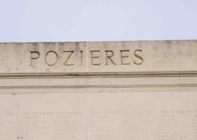 he Battle of Pozieres remembered on the Australian National Memorial, Villers-Bretonneux, France.