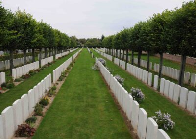 Daours Communnal Cemetery Extension, France, where 7794A Private Henry Williamson is buried.